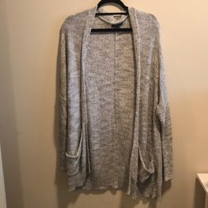 Heather gray long sweater